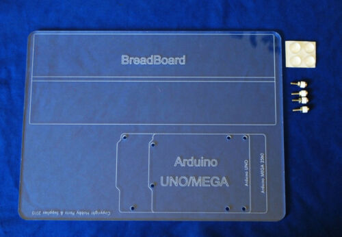 Base Plate for Arduino UNO and MEGA size board Large Size Acrylic Mounting