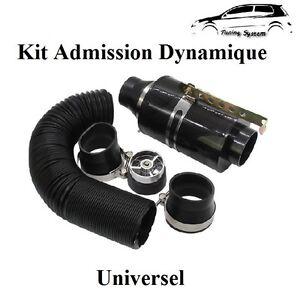 kit d 39 admission direct dynamique carbon universel boite filtre air golf 3 4 5 ebay. Black Bedroom Furniture Sets. Home Design Ideas