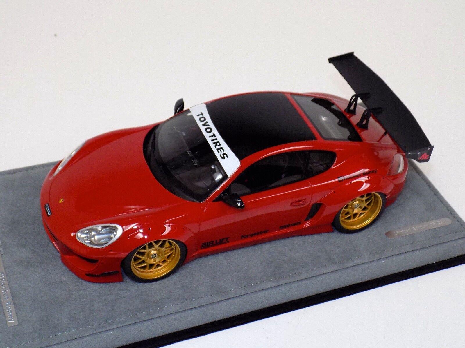 ab modelos Porsche Cayman cohete Bunny Gloss Rojo en la base Alcántara