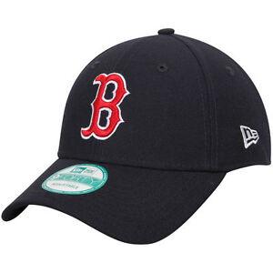 New-Era-9FORTY-MLB-Boston-Red-Sox-Navy-Curved-Peak-Strapback-Hat-Baseball-Cap