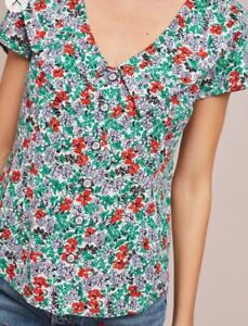 NWT-78-Anthropologie-Austen-Collared-Blouse-by-Maeve-Women-039-s-Size-6