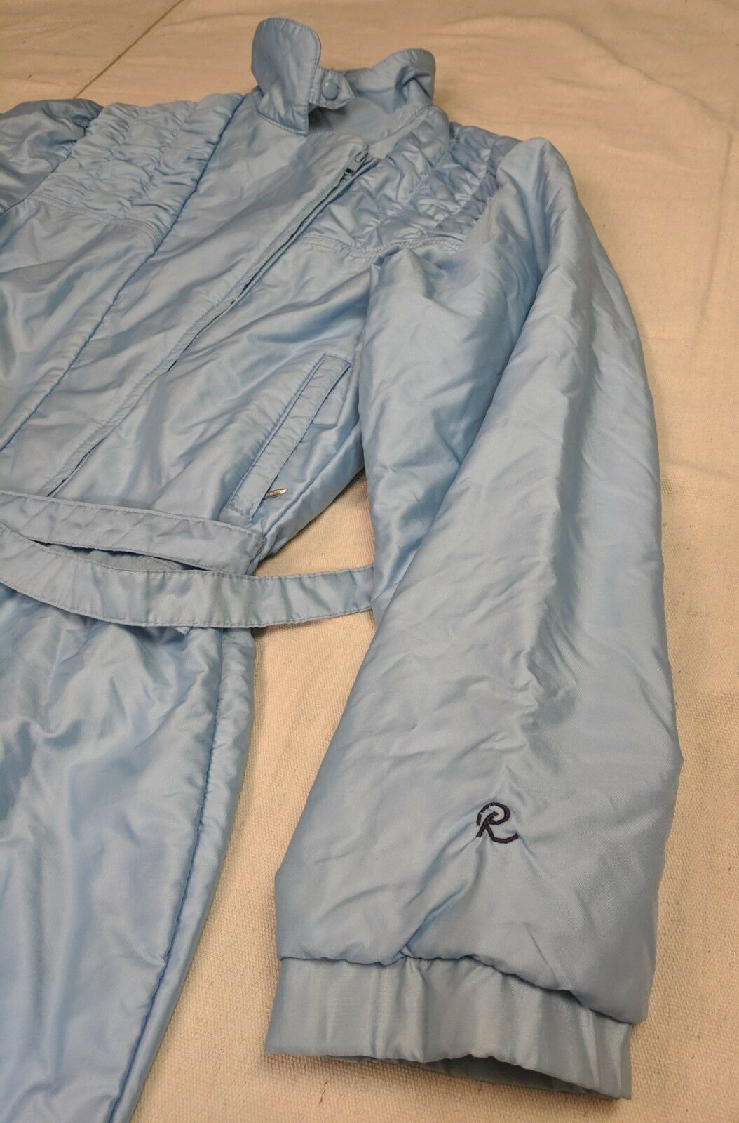 Roffe USA VTG 80's Women's one piece Ski Suit Size 8 Sky blueee GAPER DAY