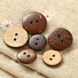 100x Cartoon Wooden Buttons Scrapbooking Clothing Sewing Bead Home Craft Useful