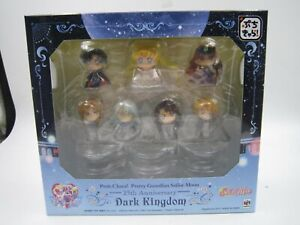 DARK KINGDOM 25TH ANNIVERSARY BOX PETIT CHARA SAILOR MOON// SET 7 FIGURAS 6  CM