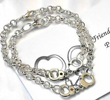 2 x Friendship Bracelets - FRIENDS forever, 'PARTNERS in Crime' - Handcuffs
