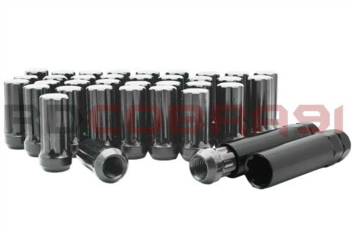 """SolidSteel Gun Metal 7-Spline Lug Nuts 2/"""" Tall 24PC+2Key fits 2019-2020 RAM 1500"""