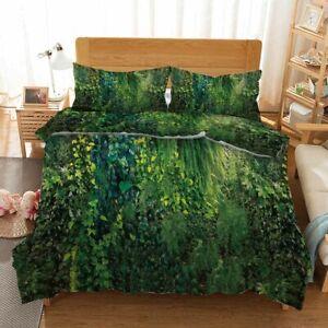Vine-Green-Forest-3D-Printing-Duvet-Quilt-Doona-Covers-Pillow-Case-Bedding-Sets