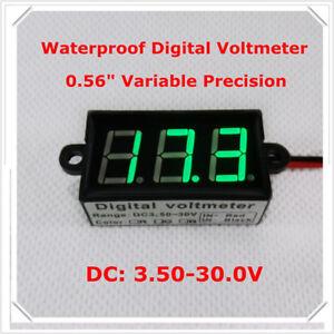 Green-0-56-034-Digital-Voltmeter-DC3-50-30-0V-Vehicles-Motor-car-Voltage-Panel-Meter