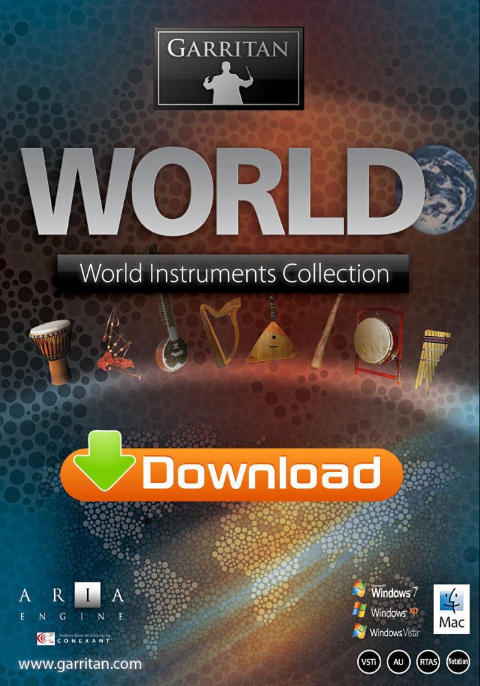 GARRITAN WORLD INSTRUMENTS - MUSIC SOFTWARE - DIGITAL - NEW - WIN MAC