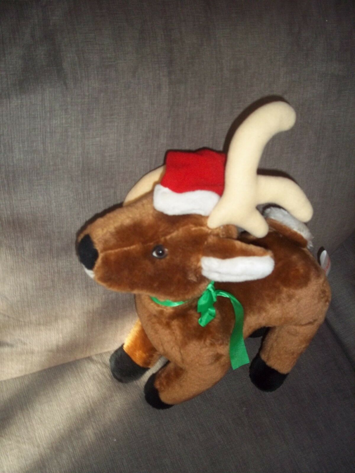 RARE VINTAGE FUN WORLD PLUSH DOLL FIGURE CHRISTMAS NOVELTY REINDEER TOY DECOR