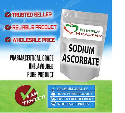 SIMPLY HEALTHY SODIUM ASCORBATE VITAMIN C 1kg PREMIUM PHARMACEUTICAL GRADE
