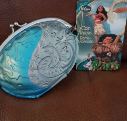 """Disney Store Authentic Princess Moana Movie Coin Purse 5/"""" W Kids Adult Gift NWT"""