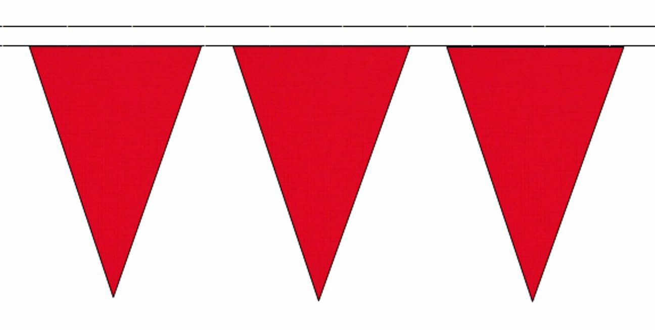 rouge Triangular Flag Bunting - 50m with 120 Flags