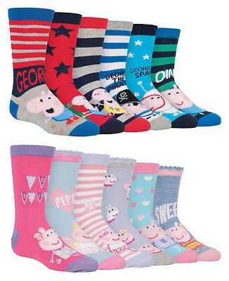 KIDS CARTOON CHARACTER SOCKS GIRLS PRINCESS PEPPA PIG DORA MINNIE MOUSE STOCKING