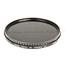 Bower 77mm Variable Neutral Density Fader NDX Filter ND2 to ND1000 FN77