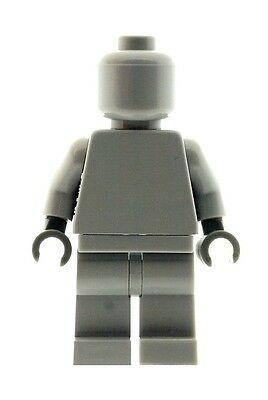LEGO Plain Light Grey Minifig Head Torso Legs and Hands Great for Customs NEW