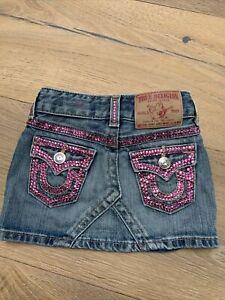 Baby Joy True Religion skirt with Swarovski crystals,12-18m VGC