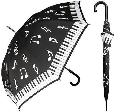 "New Rainstoppers 46"" Piano Key Music Auto-Open Umbrella -Free Priority Shipping"