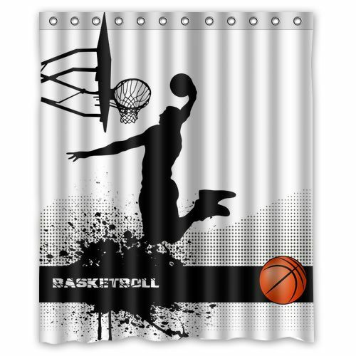 Customize Design Custom Basketball Sport Bathroom Shower Curtain 60x72 Inch