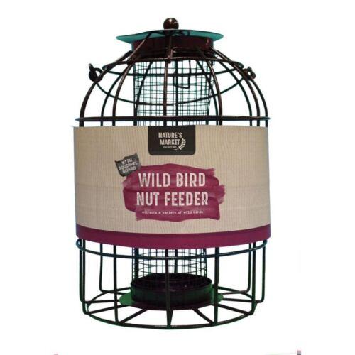 Natures mercato in metallo da appendere WILD BIRD SEED Dado Alimentatore