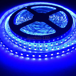 5M 3528 SMD 600 LEDs UV Purple Non-Waterproof Flex LED Strip String Light 12V DC eBay