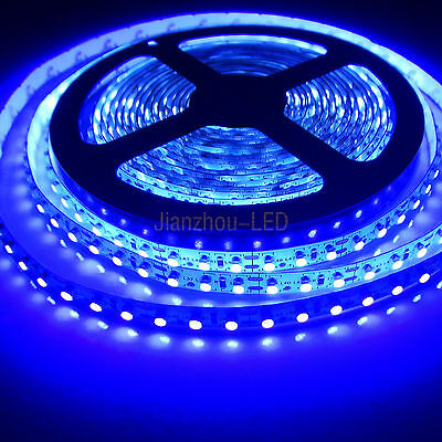5M 3528 SMD 600 LEDs UV Purple Non-Waterproof Flex LED Strip String Light 12V DC