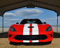 "13/' x 6/"" M17//5 GLOSS WHITE Twin Body Stripes Viper Cobra Style 4m x15cm B2"