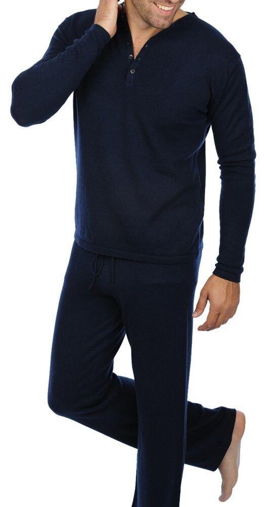 Balldiri 100% Cashmere Homme Survêtement 2-fädig Nachtblau Xxl