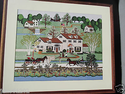 Dimensions Fox Hill Farm Crewel Embroidery Kit Charles Wysocki Americana