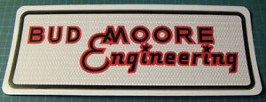 BUD-MOORE-ENGINEERING-VINYL-STICKER-DECAL-SCCA-TRANS-AM-RACING-BOSS-302-NASCAR