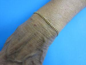 14KT-Gold-Oval-Link-Petite-Bracelet-7-034-Free-Shipping