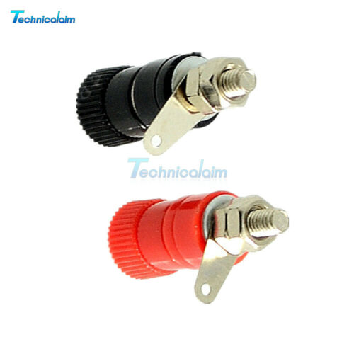 10PCS 4mm JS-910B Banana plug Jack socket Female Binding Post Black+Red fr Audio