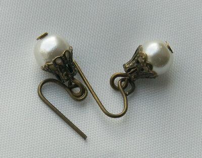 Glaswachsperlen Ohrhänger für mittelgroße//große antike Puppe