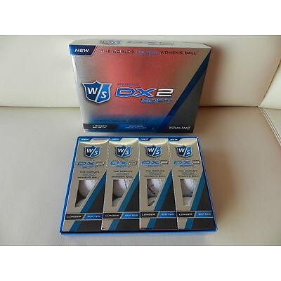 Wilson DX2 womens soft Golfbälle, 12 Stück, weiss  -neu-