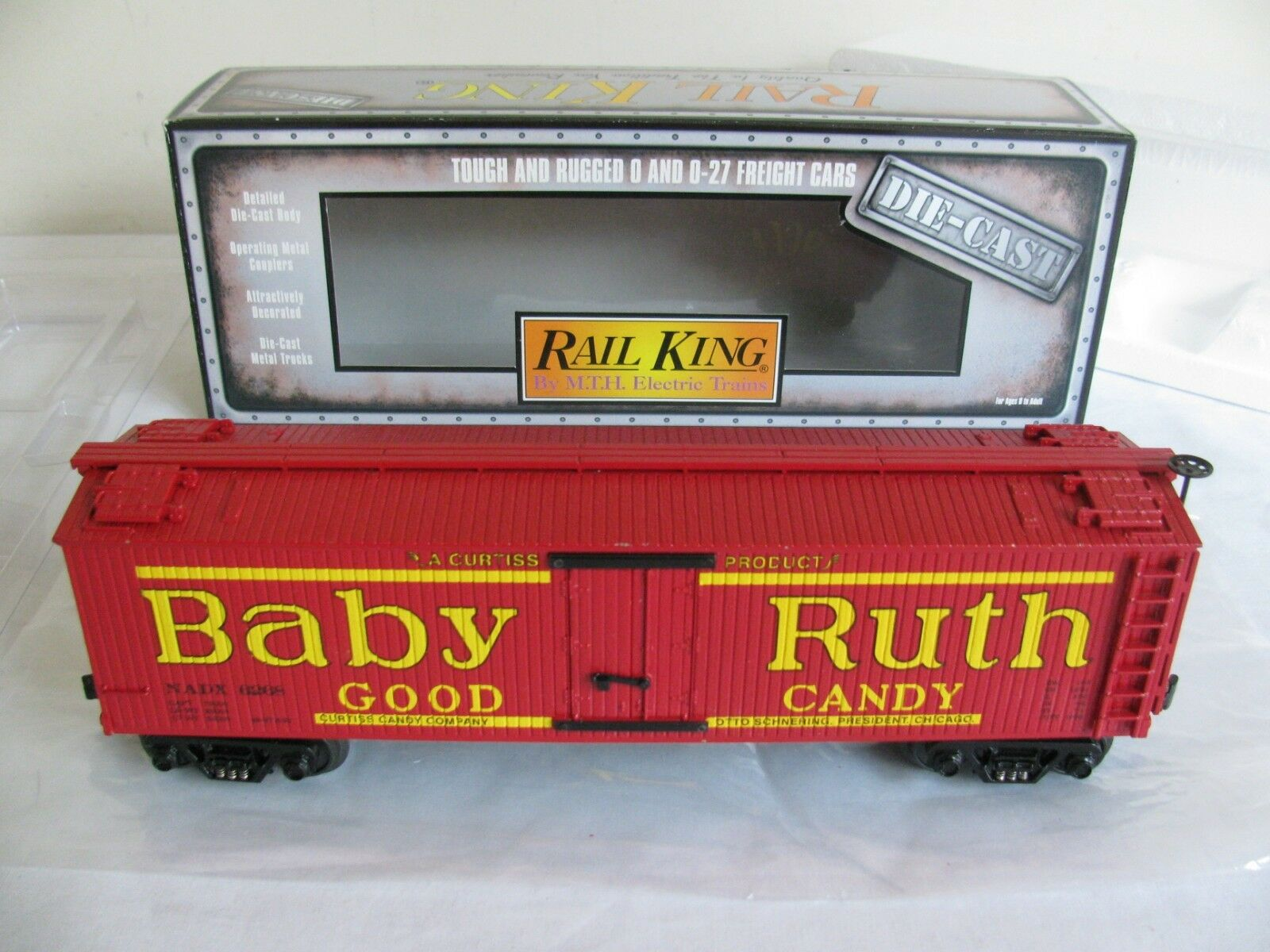 Vintage MTH Rail King Die-Cast O O-27 Scale Baby Ruth Candy Reefer EX