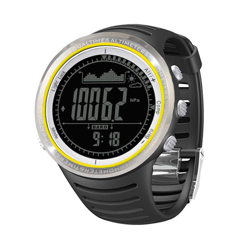 Watch Fishing Pedometer Waterproof Compass Altimeter Barometer Outdoor Stopwatch