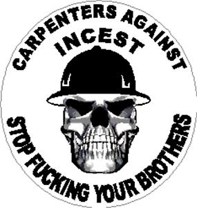 CC-45 Carpenters against incest sticker