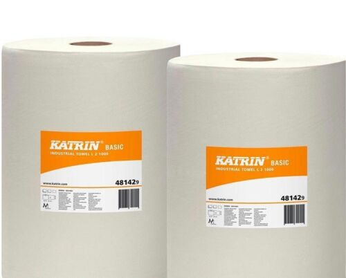 2x putztuch Roll White 2 Piece Plaster Roll 2 Ply 22x38 cm 1000 Sheets Cleaning Paper