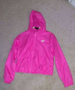 Details about Hollister Young Women\u0027s zippered Hoody Spring Jacket Sz Med  (Pre, Owned)