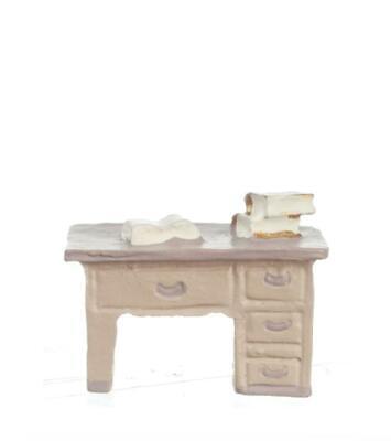 MA9214 Dollhouse Miniature Quarter Scale 1:48 Desk with Books