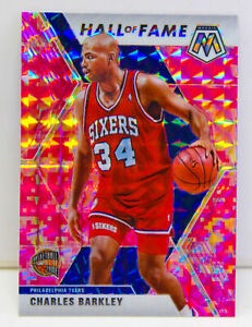 Charles Barkley 2019-20 CAMO PINK MOSAIC PRIZM Hall of Fame Card #282 76ers HOF