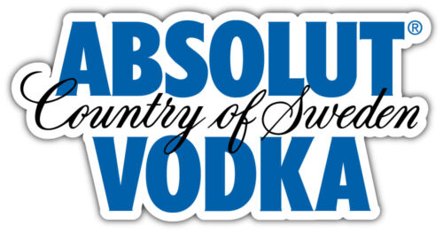 6/'/' or 8/'/' 3/'/' Absolut Logo Car Bumper Sticker Decal 5/'/'