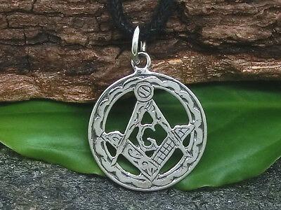 Freimaurer 925 Silber Anhänger Ø 1,7 cm Winkel Zirkel Masonic incl. Band | eBay