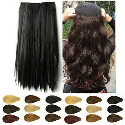 mega Thick 3/4 Full head clip in Synthetic hair extensions 100% real made hair