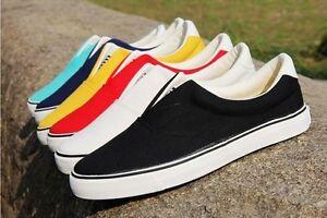 Men-Boys-Canvas-Slip-On-Casual-Shoes-Sneaker-Plimsolls-Loafers-Pumps-Shoe