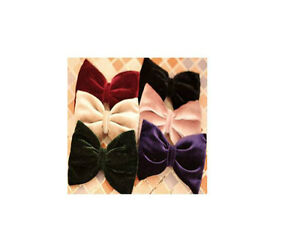 Fashion-Lovely-Colourful-Velvet-Big-Hair-Bow-Barrette-Clip-Gift-Women-Accessory