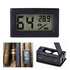 Mini Digital TOP schwarz Humidor Hygrometer Thermometer Temperatur Zigarren  NEU