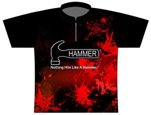 Hammer Violent Splatter Dye-Sublimated Bowling Jersey