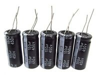 5pcs Electrolytic Capacitors 450v 150uf Volume 18x40 Mm 150uf 450v