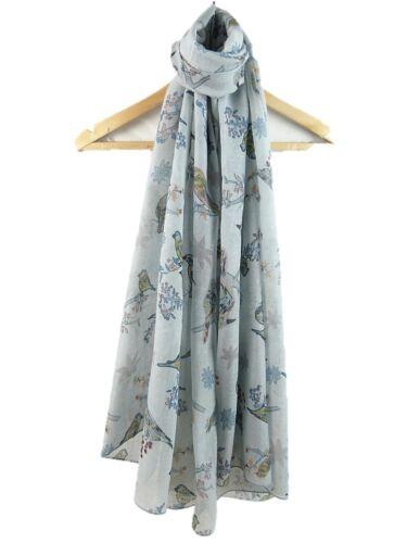 Femmes écharpe d/'été écharpe imprimé oiseaux imprimé animal oiseau écharpe Wrap bonne qualité
